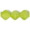Glass Bead Lanterns 6mm Light Green Strung